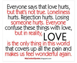 Pictures Gallery of love hurt quotes