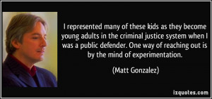 these kids as they become young adults in the criminal justice system ...