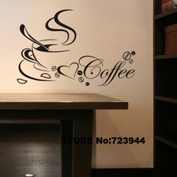 KITCHEN wall stickers home decoration coffee quote wall decals ...