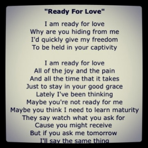 Ready For Love Quotes Ready for love india arie