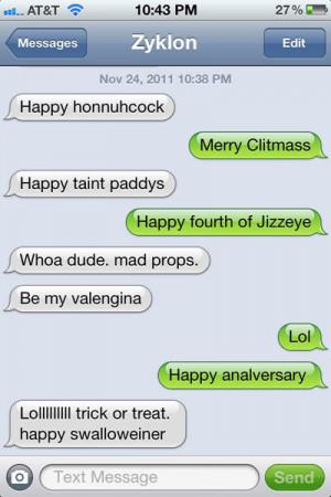 funny text message puns holidays Christmas