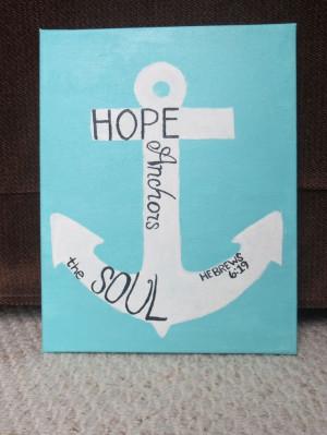 hebrews 6 19 bible verse canvas anchor