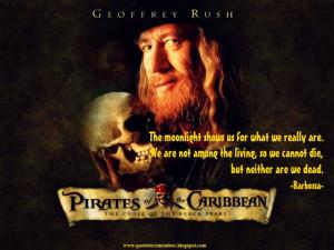 Pirates Of The Caribbean Barbossa Quotes
