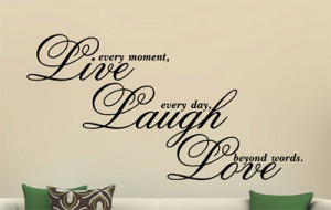 Details about Live Laugh Love Vinyl Decal Wall Art Sticker Quote ...