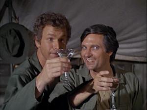 Trapper John McIntyre (Wayne Rogers) and Hawkeye Pierce (Alan Alda) in ...