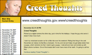 Creed Bratton Quotes The Office Who's updating creed's blog