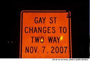silly signs funny street signs and funny traffic signs gay