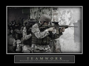 ... Teamwork Patience Military Sniper Soldier Gun Motivational Posters