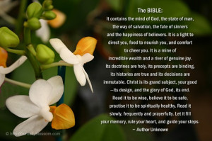 Immutable In The Bible http://ourdailyblossom.com/2012/03/21/spiritual ...