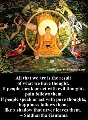 Siddharta Gautama on Thoughts, Zammtopia Visual Quotes