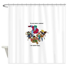 Captain Planet quote.png Shower Curtain for