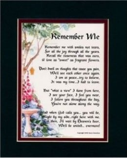 Memorial Poems, Quotes and Gifts: Remembering My Father