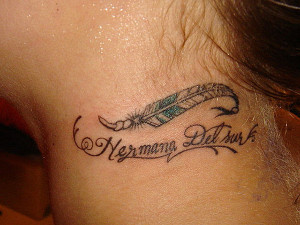 Sister Tattoos Quotes Ideas Sister feather tattoo 31
