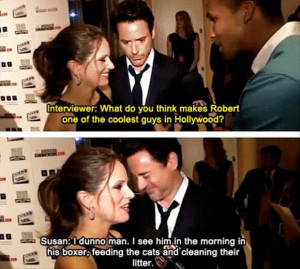 Robert Downey jr's wife funny quotes