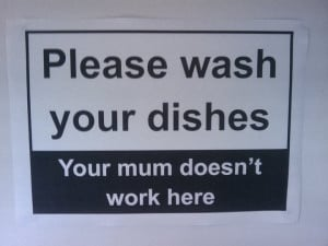 Funny signsA funny sign put in a restaurantPlease wash your dishes ...