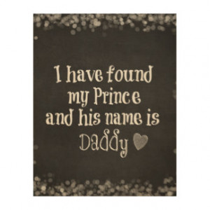 Nursery Baby Quote: Daughter and Daddy Wood Canvases