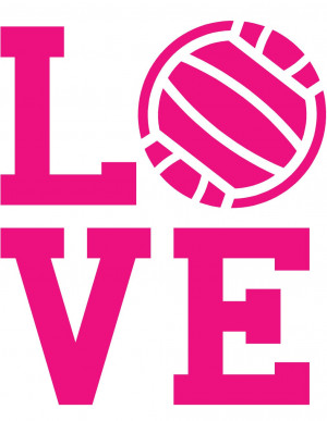 Love Volleyball Quotes Love volleyball wall decal