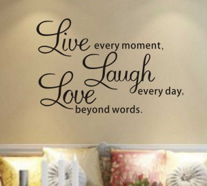 Live laugh love Wall Quotes decals Removable stickers decor Vinyl home ...