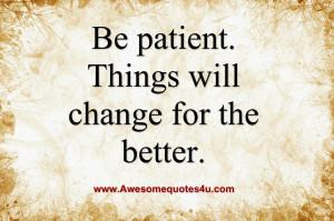 Be patient ...