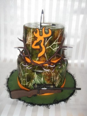 Hunting Cake, Very Cool! Groom's Cake !!!