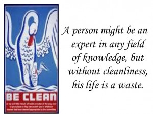 Searched Term personal cleanliness information in English