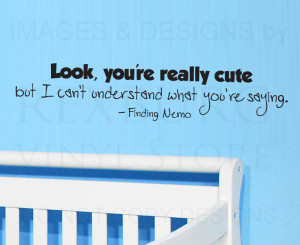 ... -Art-Sticker-Quote-Vinyl-Removable-Lettering-Finding-Nemo-Dory-B79
