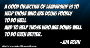 ... and to help those who are doing well to do even better. - Jim Rohn