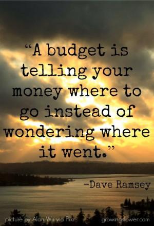 Use a zero-sum budget system.