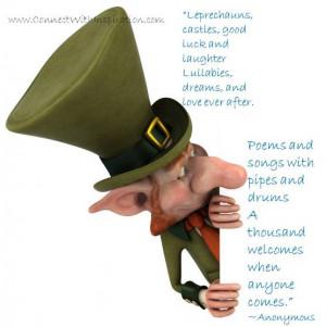 St Patrick's Day Quote, Inspirational Quote, Leprechauns, Castle