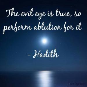 Hadith on evil eye Islam, Muslim, quotes
