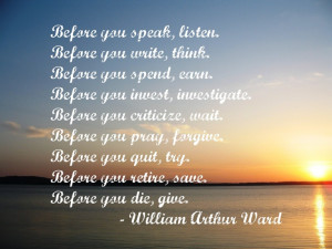 Inspirational quote from William Arthur Ward