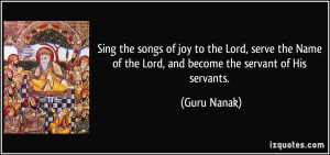 Sing the songs of joy to the Lord, serve the Name of the Lord, and ...