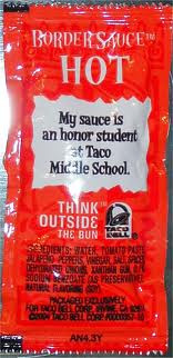 taco bell sauce packet sayings 5