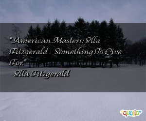 American Masters : Ella Fitzgerald - Something To Live For.