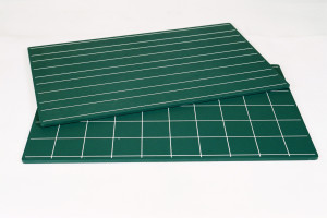 Green Boards with Double Lines and Squares