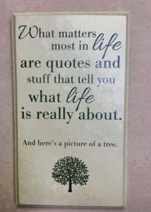 What matters most in life...