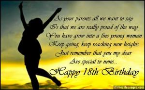Happy 18th Birthday Wishes Quotes Happy 18th birthday.