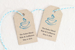 ... Wedding Tags, Coffee Tags, Personalized Gift Tags, Bridal Shower Favor