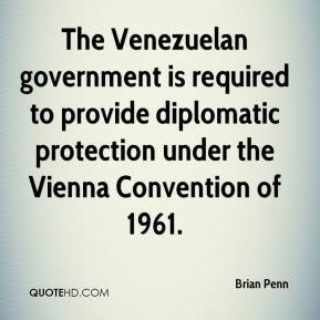 The Venezuelan government is required to provide diplomatic protection ...