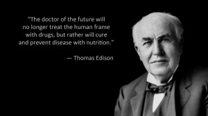 The doctor of the future will no longer treat the human frame with ...