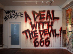 """Neckface """"A Deal With the Devil"""". One Grand Gallery. Portland, OR"""
