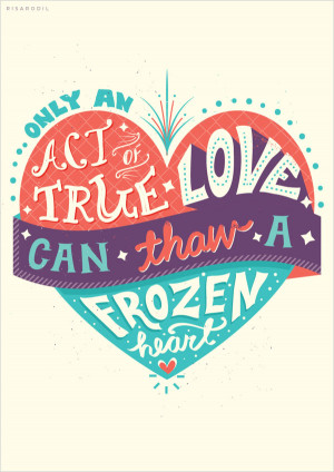 Beautiful Typography of Disney Movie Frozen by Risa Rodil