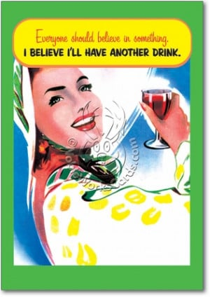 Another Drink Humorous Birthday Paper Card Nobleworks