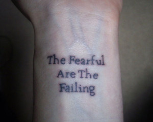 Quote Wrist Tattoo
