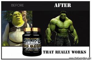 funny shrek to hulk big bang steroid