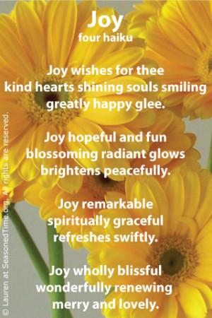 poems on joy