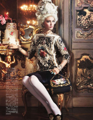 Ymre Stiekema Models Sumptuous Glamour for Vogue Japan October 2012 by ...