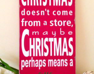 Dr Seuss Quote - How the Grinch St ole Christmas- Typography Word Art ...