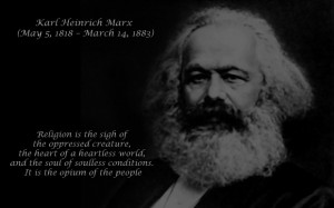 Karl Marx- Quote image - Atheists, Agnostics, and Anti-theists of ...