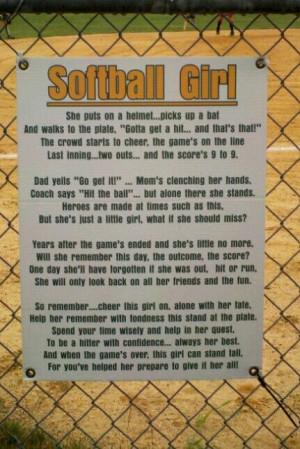 Softball poem | Softball Mom....
